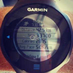 Garmin results - a new marathon PB!