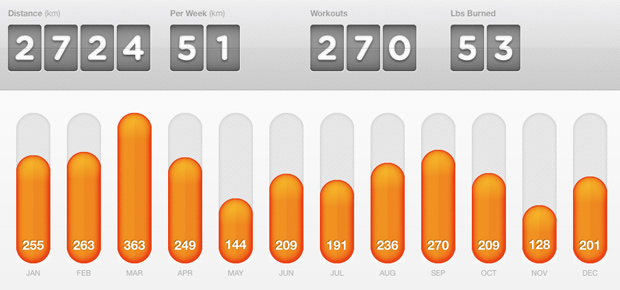 My 2013 Running Stats from Dailymile