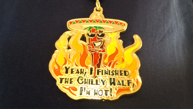 2014 Chilly Half Marathon finishers medal
