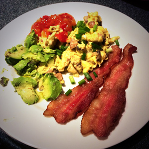 Low Carb High Fat breakfast